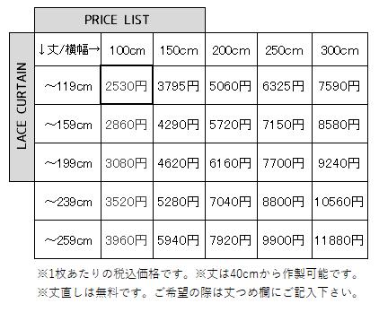 ナチュラルセレクトシリーズ価格表